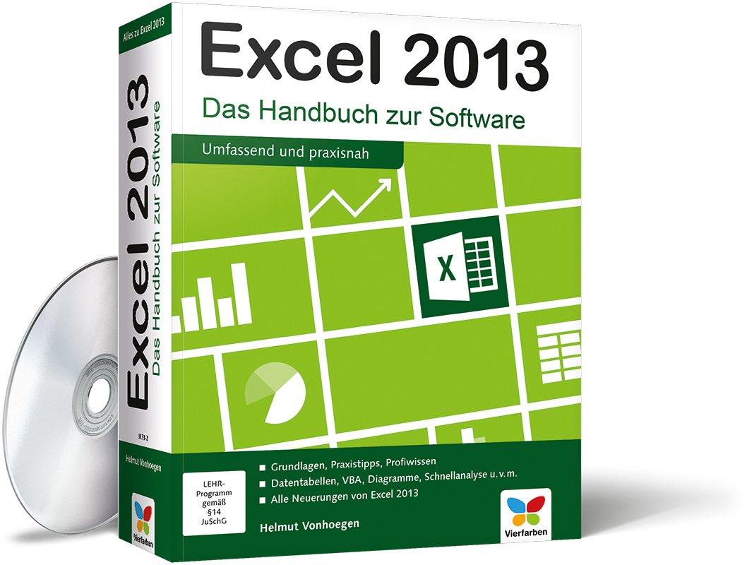 excel 2013 das handbuch zur software von helmut vonhoegen vierfarben. Black Bedroom Furniture Sets. Home Design Ideas