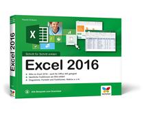 Cover von Excel 2016 - Schritt für Schritt erklärt