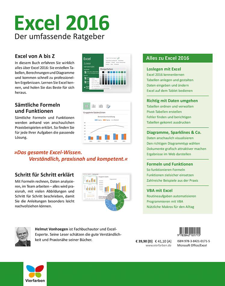 Excel    2016        Der       umfassende       Ratgeber     von Helmut